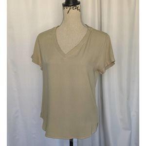 Anthropologie Cloth & Stone V-Neck Tee XS